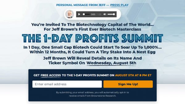 Jeff-Brown First-Ever-Biotech-Masterclass