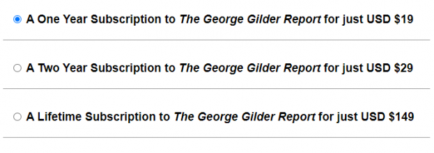 price of the george gilder report