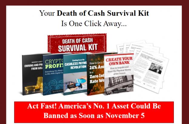 manward letter death of cash survival kit